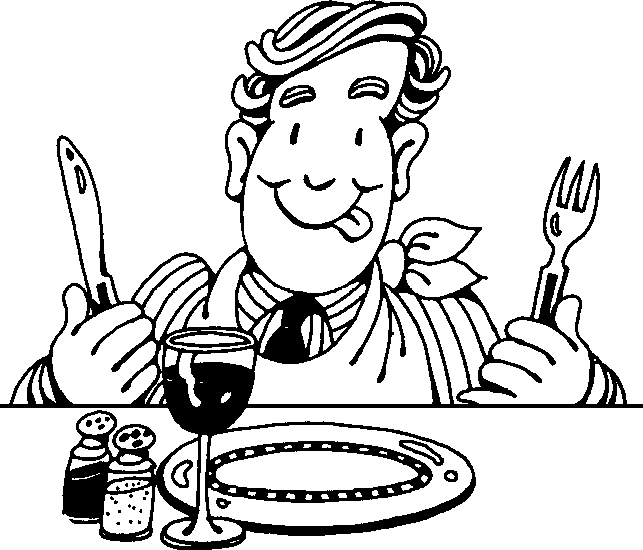 Back   Gallery For   Hungry Man Eating Clipart