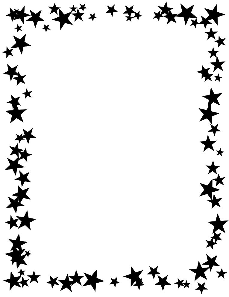 Black And White High Contrast Stars Design