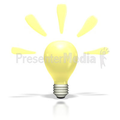 Bright Idea Light Bulb   Science And Technology   Great Clipart