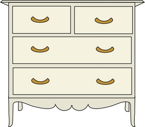 Dressers and Chest of Drawers Clip Art