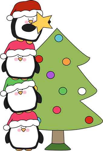 Cute Christmas Penguin Clipart   Animalgals