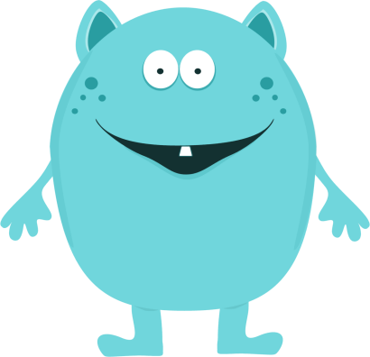 Clip Art Cute Monster Clipart little monster clipart kid cute clip art image turquoise with one tooth