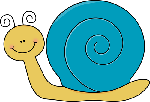 Cute Snail Clip Art Image   Cute Yellow Snail With A Blue Shell And A