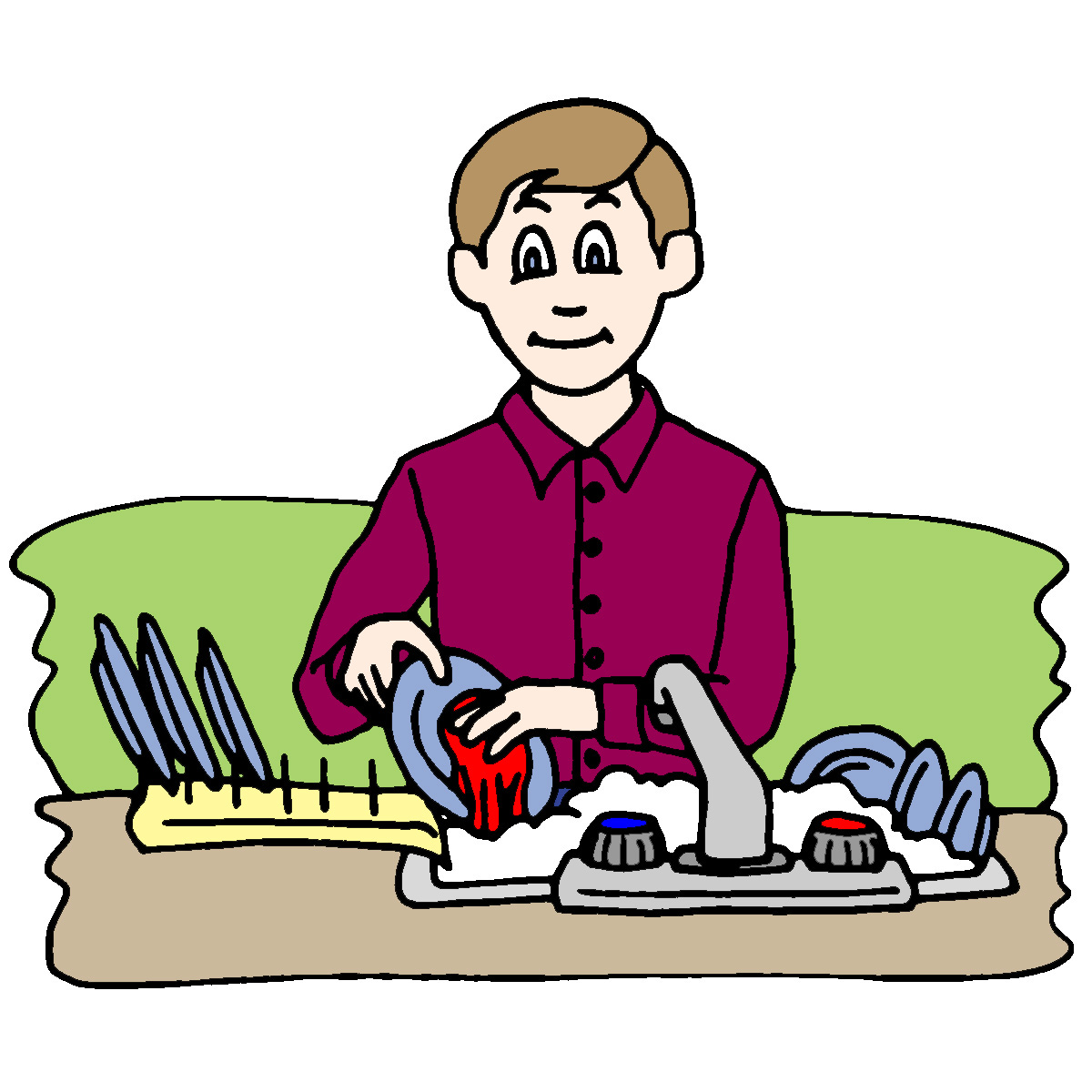 Clean Dishes Clipart - Clipart Kid