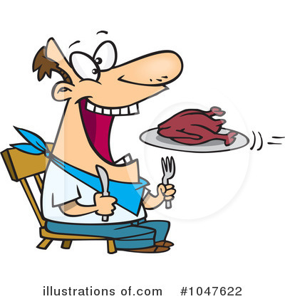 Hungry Clipart  1047622   Illustration By Ron Leishman