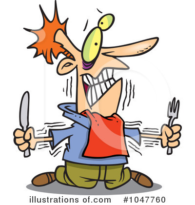 Hungry Clipart  1047760   Illustration By Ron Leishman