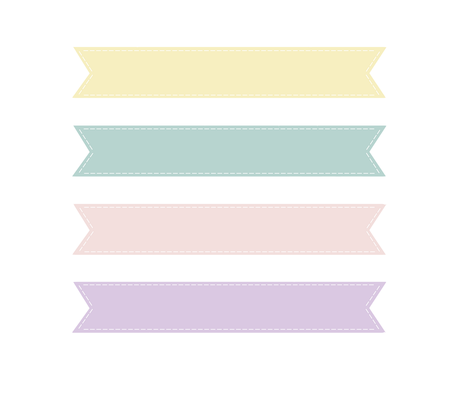 Loveration  Freebies  Cute Pastel Banner Clip Art