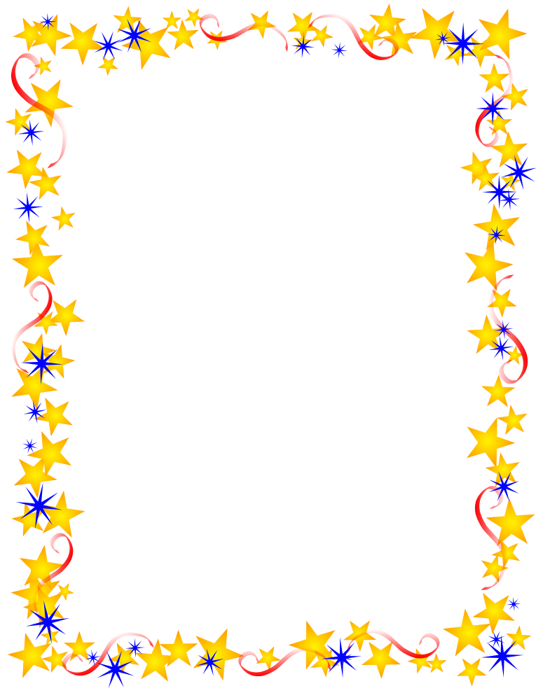 Red Gold And Blue Stars Border   Free Borders And Clip Art Com
