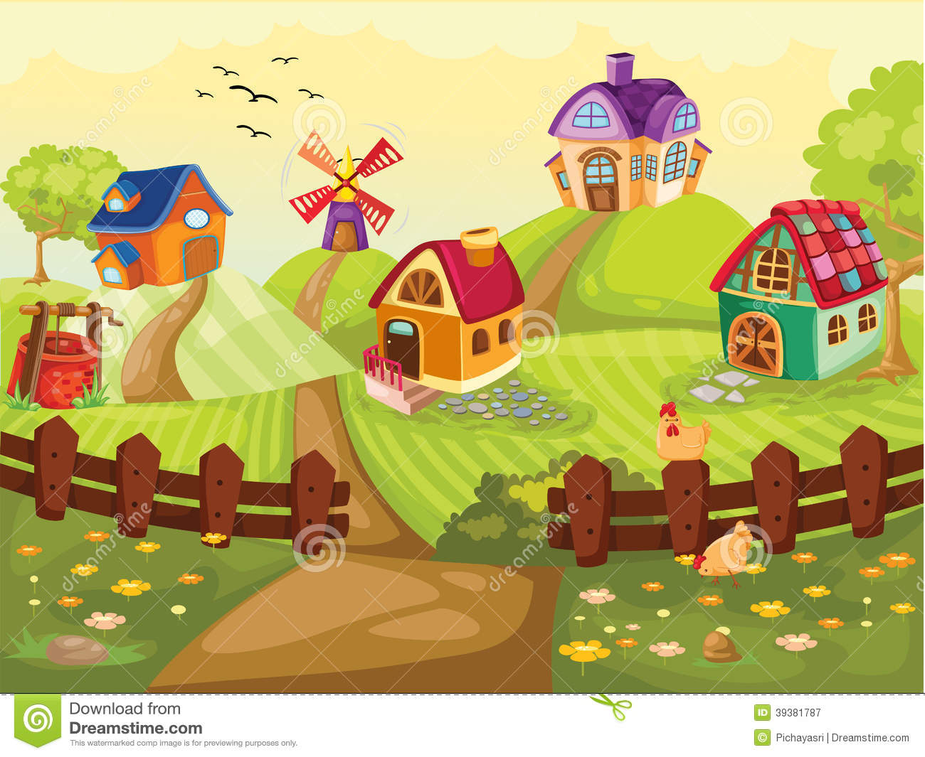 Showing Gallery For Small Village Clipart