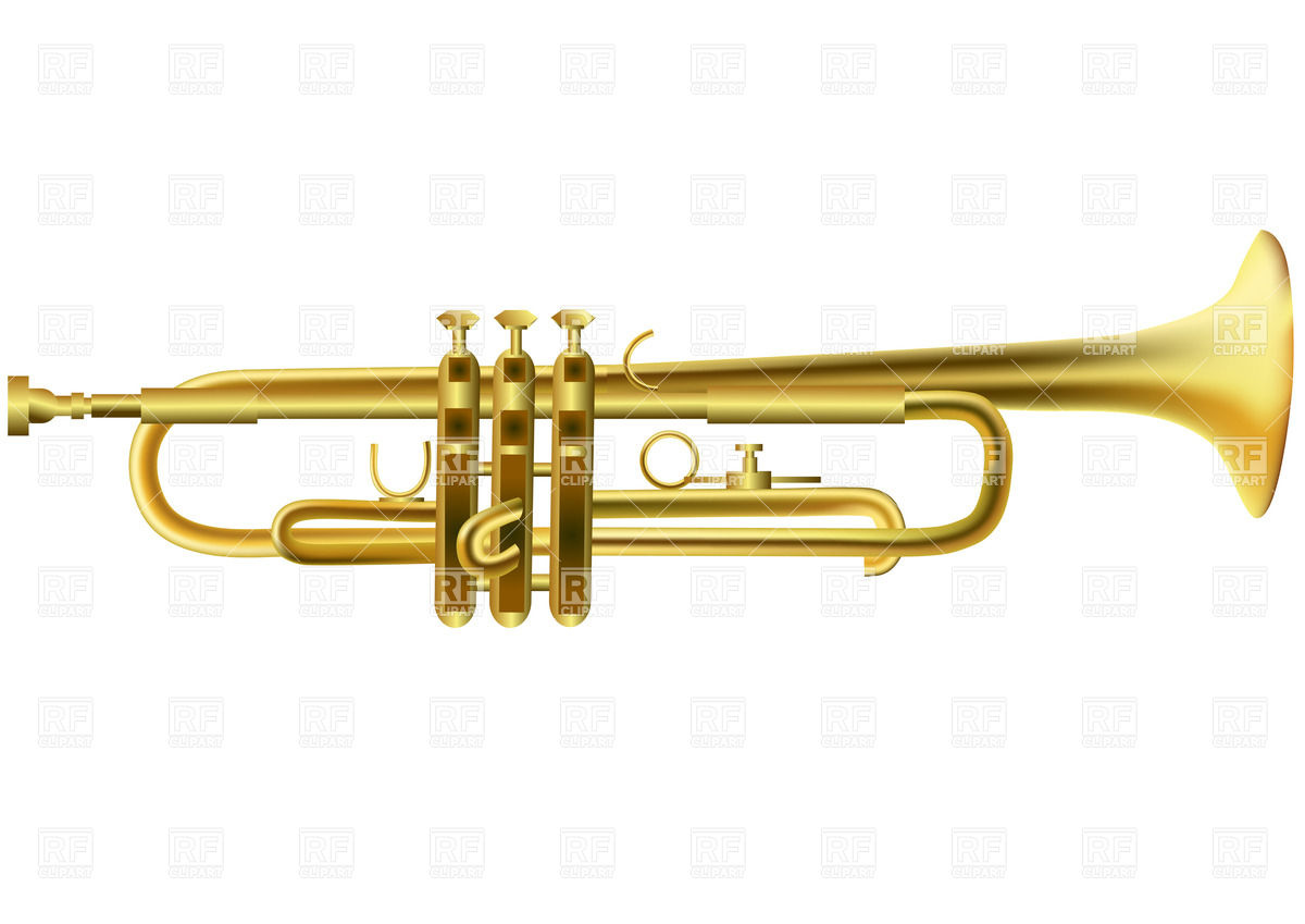 Trumpet 25329 Objects Download Royalty Free Vector Clipart  Eps