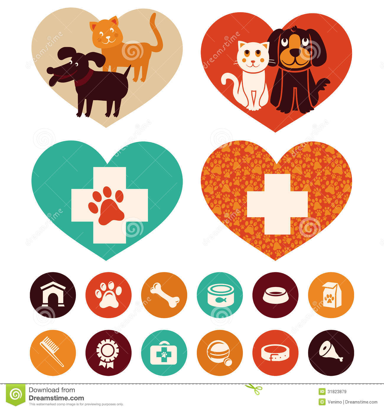 Vector Veterinary Emblems And Signs Royalty Free Stock Images   Image