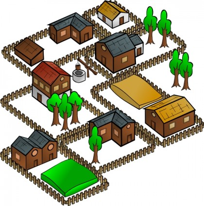 Village Clip Art Free Vector In Open Office Drawing Svg    Svg