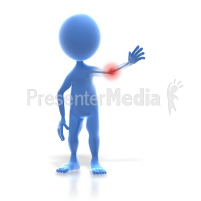 3d Stick Figure Arm Pain   Medical And Health   Great Clipart For