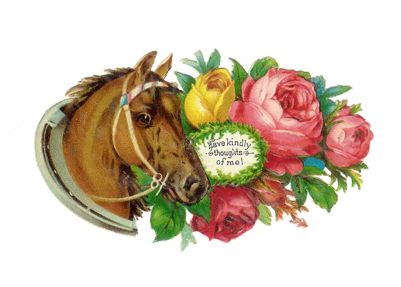 Antique Images  Free Horse Clip Art  Antique Die Cut Of Horse And