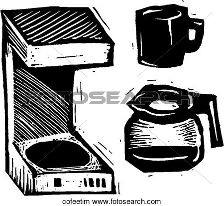 Coffee Time View Large Clip Art Graphic