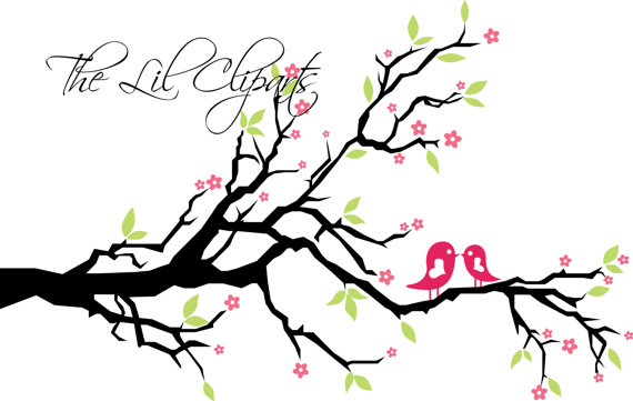 Floral Clipart Flower Clipart Tree Clipart Scrapbook Flowers