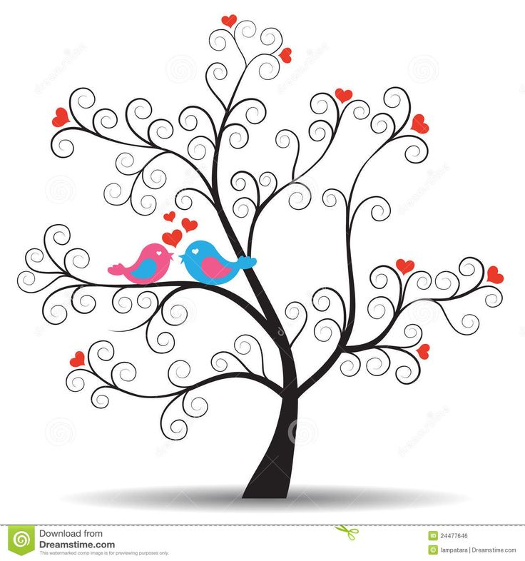 Images Of Tree And Bird Silhouette   Romantic Tree With Inlove Couple