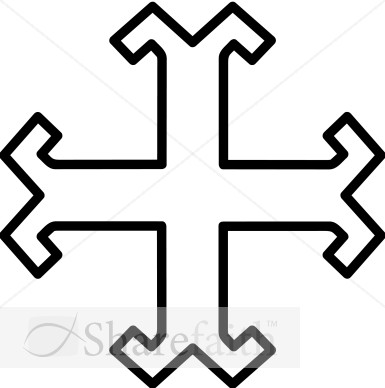 Milrine Cross Outline   Cross Clipart