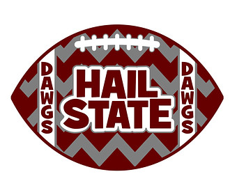 Mississippi State Hail State Chev Ron Football Svg Dxf Die Cut