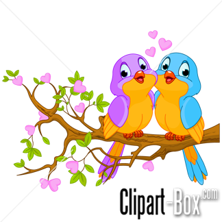 Related Birds Couple Cliparts