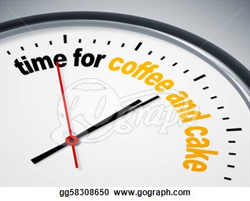 Stock Illustration   Time For Coffee And Cake  Clipart Gg58308650
