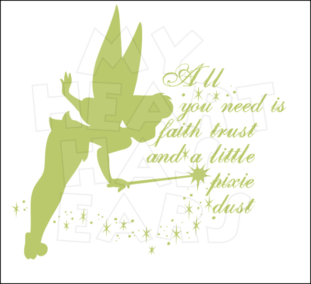 Tinker Bell Faith Trust And Pixie Dust Instant Download Digital Clip