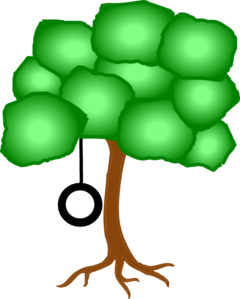 Tree Swing Clipart Tree With Tire Swing Cli