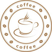 Vector Art   Vector Coffee Time Grunge Stamp With A Cup  Clipart