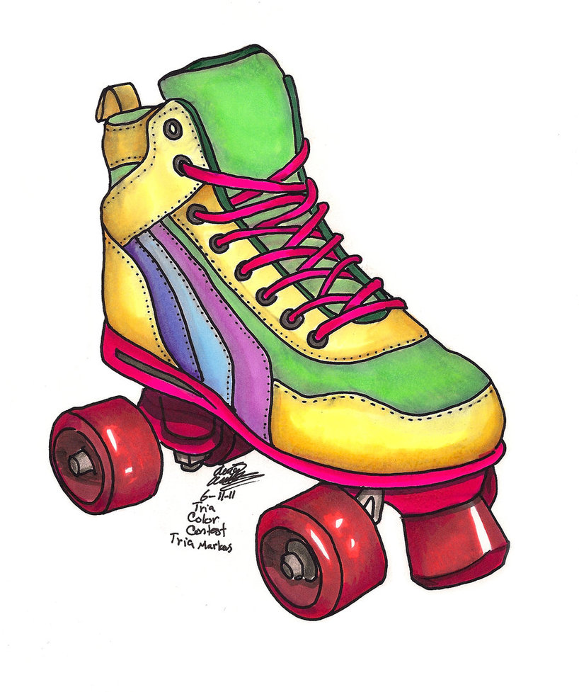80s Roller Skate Clipart   Free Clip Art Images
