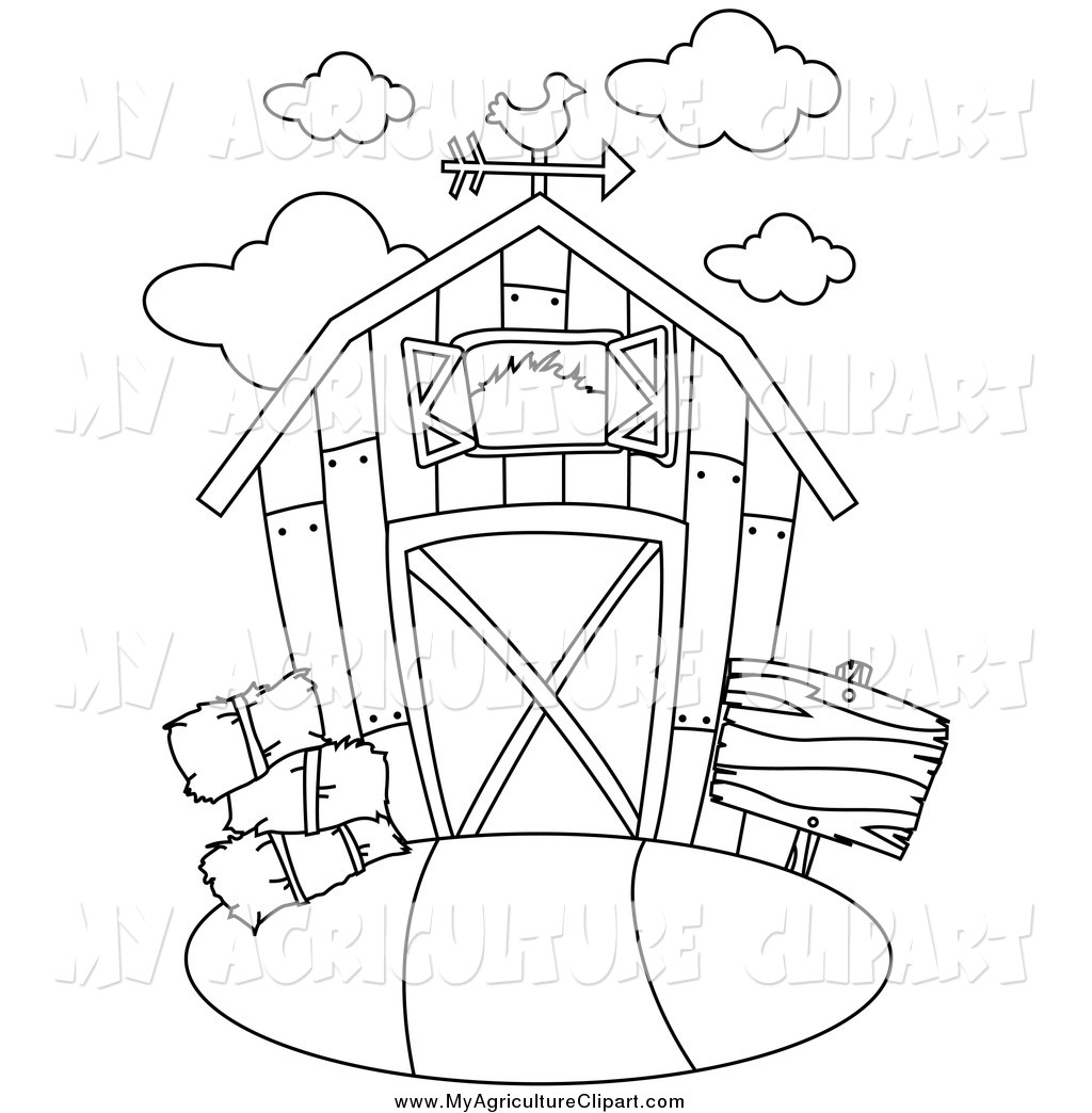 Agriculture Clipart Of A Black And White Barn By Bnp Design Studio