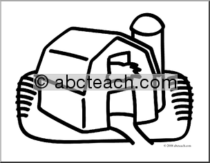 Clip Art  Basic Words  Barn  Coloring Page    Preview 1