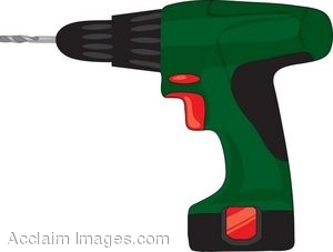 Clipart Illustration Of A Hand Drill