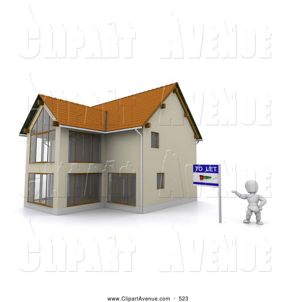 For Rent Clipart Avenue Clipart Of A 3d White