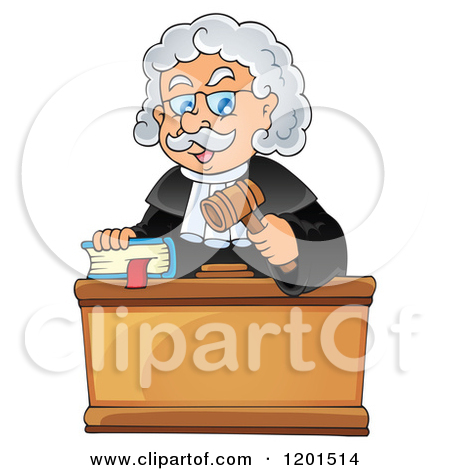 Judge With A Bible And Gavel   Royalty Free Vector Clipart By Visekart