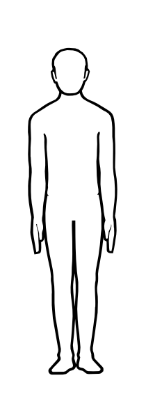 Male Figure Outline Clip Art At Clker Com   Vector Clip Art Online