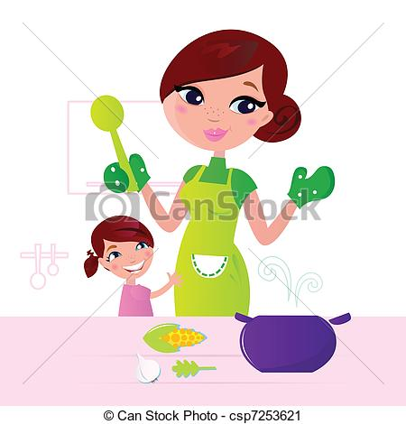 Mom And    Csp7253621   Search Clipart Illustration Drawings And