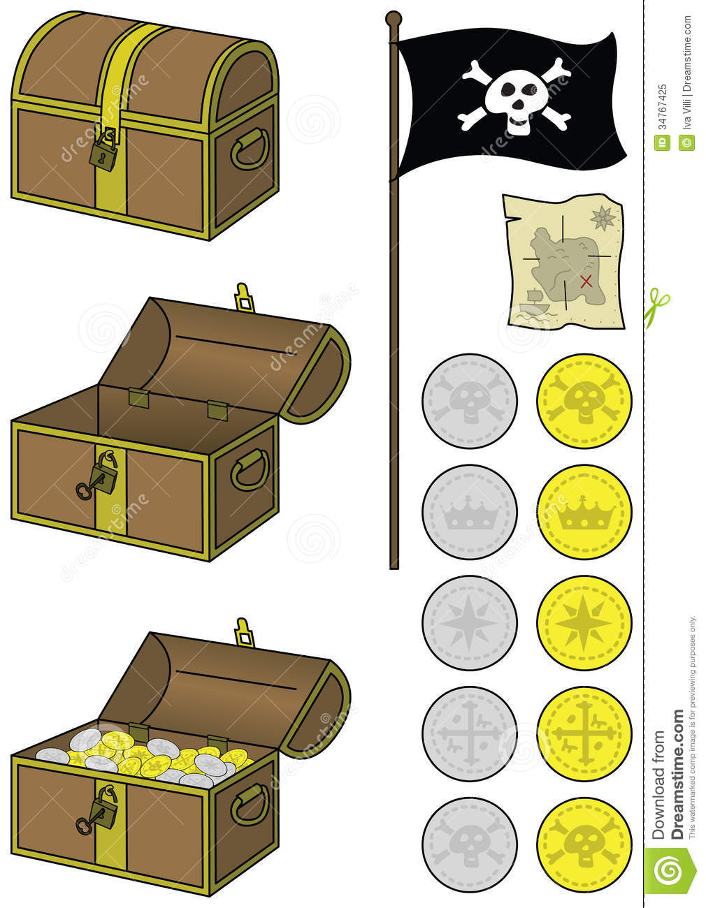 Pirate Treasure Royalty Free Stock Photo   Image  34767425