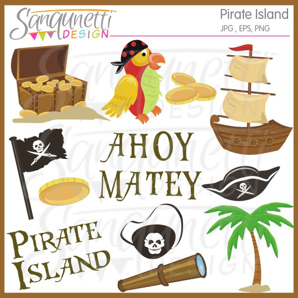 Sanqunetti Design  Pirate Island Clipart