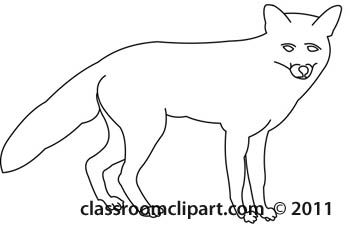 Animals   Fox Animal Outline 0608   Classroom Clipart
