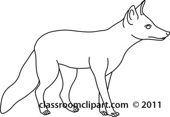 Animals   Fox Animal Outline 150509   Classroom Clipart
