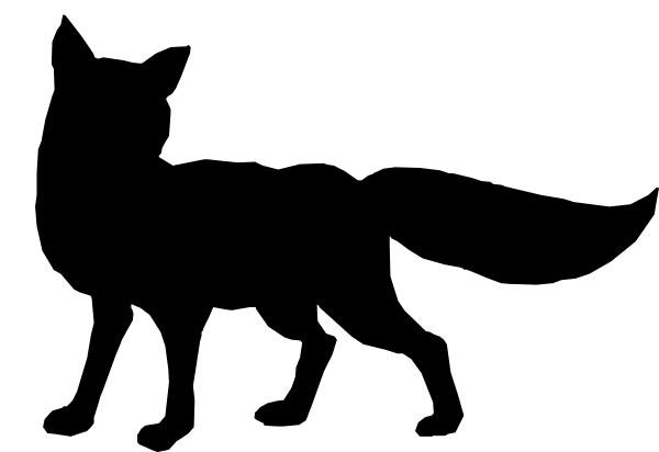 Black Fox Outline Clip Art At Clker Com   Vector Clip Art Online