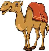 Clipart Of Funny Camel Cartoon