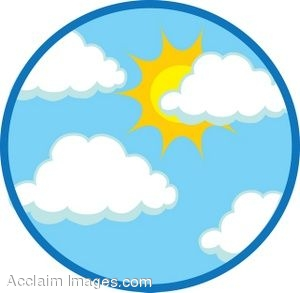 Clipart Of Sunny Skies  1