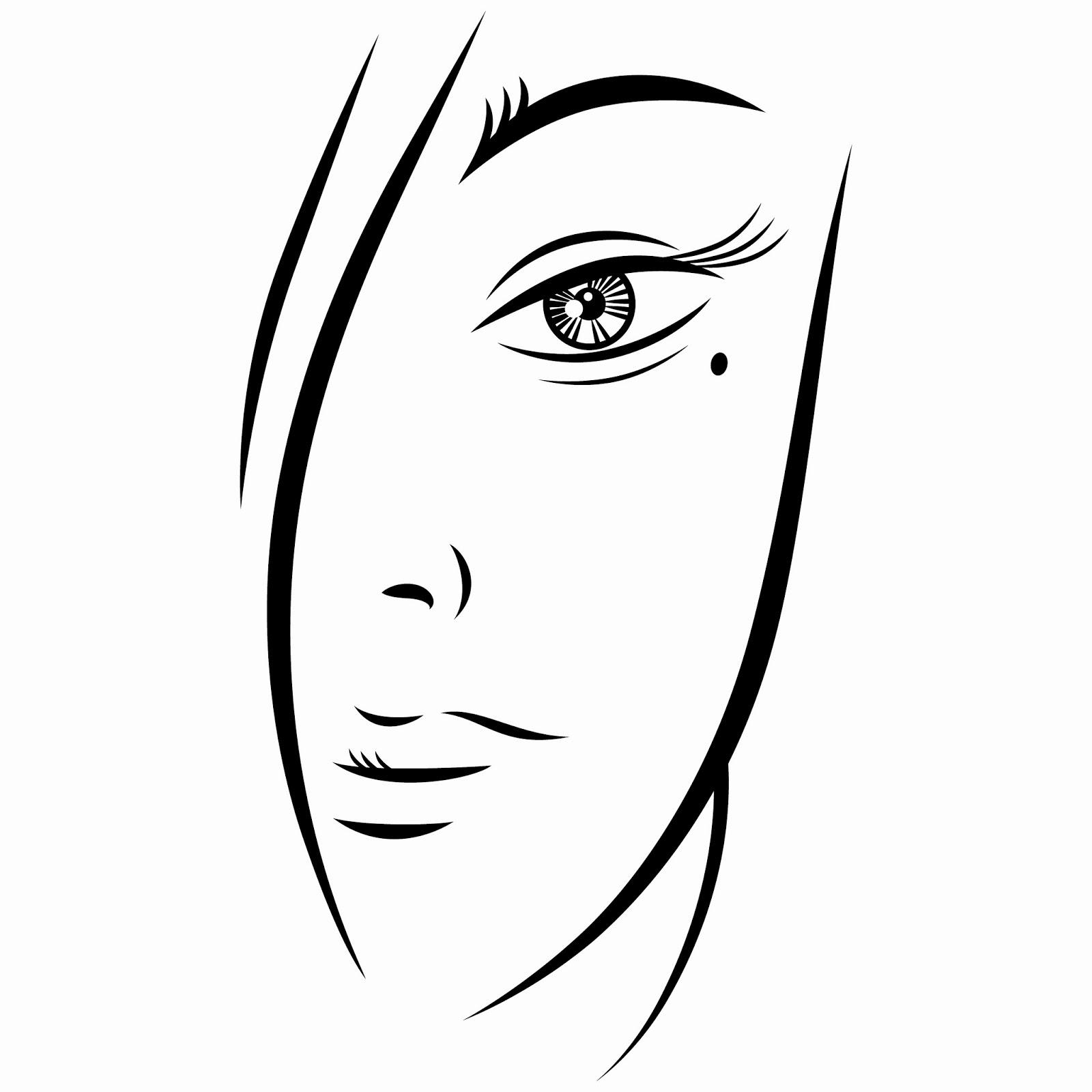 Download Free Eps Vector Illustration  Ink Sketch Of A Person Of Young