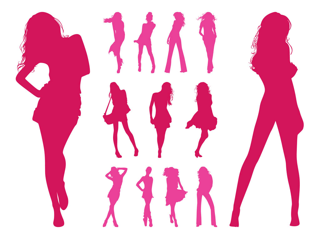 Fashion Models Silhouettes Set #Cffwoy - Clipart Kid