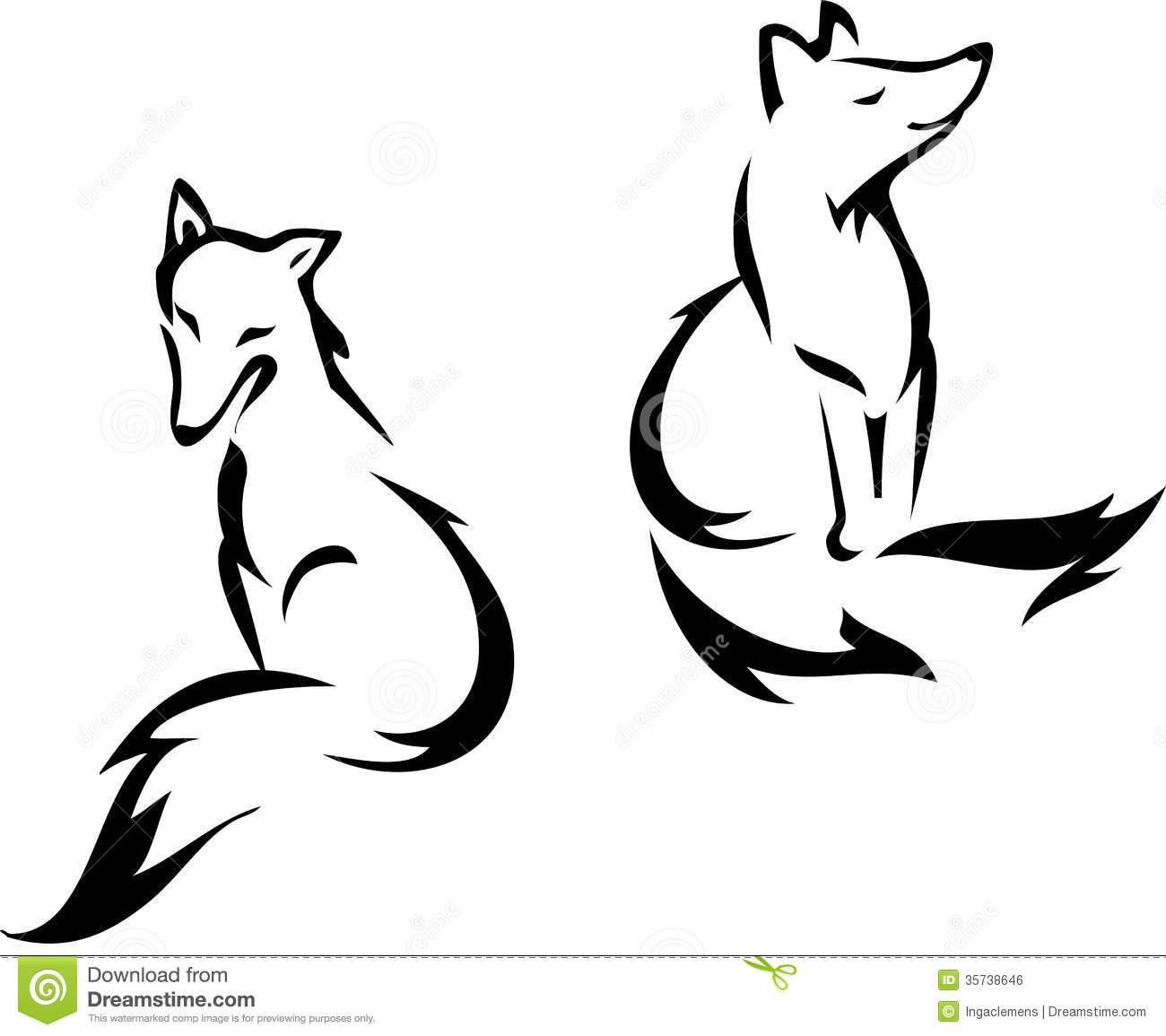 Fox head outline - photo#18