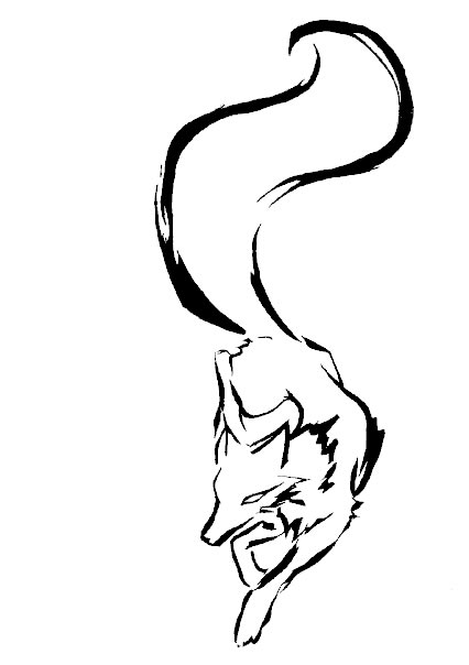 Fox Head Outline Outline Fox Tattoo Design Jpg