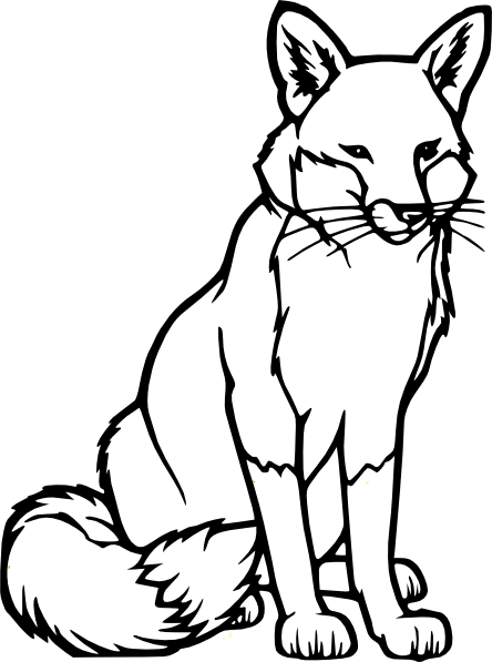 Fox Outline Clip Art At Clker Com   Vector Clip Art Online Royalty