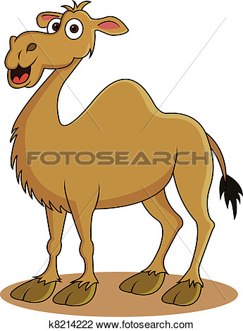 Funny Camel Cartoon View Large Clip Art Graphic