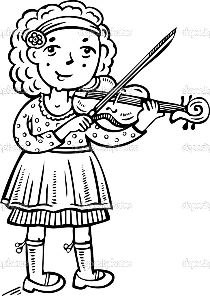 Girl Violin Clipart - Clipart Suggest